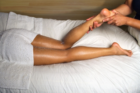 african american spa: LUXURIOUS SPA CALF AND FOOT MASSAGE