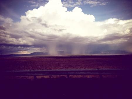 Caught rain clouds working their magic