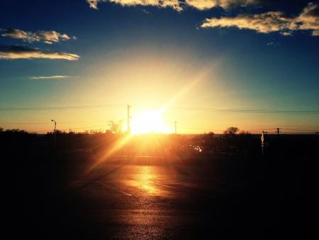 Sunset scene from random parking lot