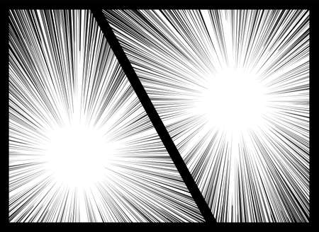 Background: Concentrated Line Comic Comic Black Black