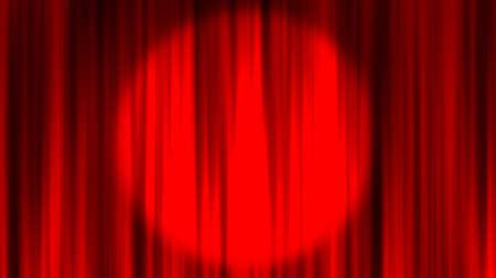 Red Curtain Stage Curtain Spotlight Red curtain material. Drape curtain. Spotlight.
