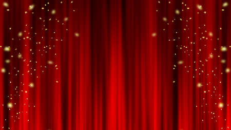 Red curtain material Draped curtain confetti Red curtain material. Drape curtain. Confetti.