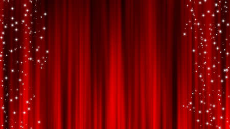 Red Curtain Material Draped Curtain Star Decoration Stardust Red curtain material. Drape curtain. Star Decoration