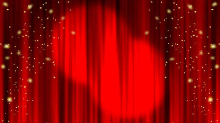 Spotlight Confetti Red Curtains Stage Curtains Spotlight. Confetti. Red curtain material. Drape curtain.