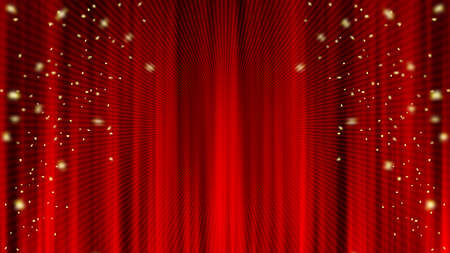 Concentrated Radiation Confetti Red Curtain Drape Curtains Converted line. Confetti. Red curtain material. Drape curtain.
