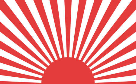 Background material to feel the day of the sun Sun Sun chapter flag