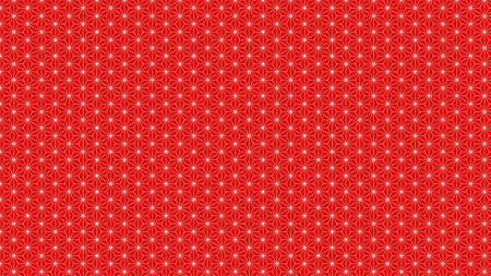 Background material that feels Japanese Hemp leaves Traditional pattern Red