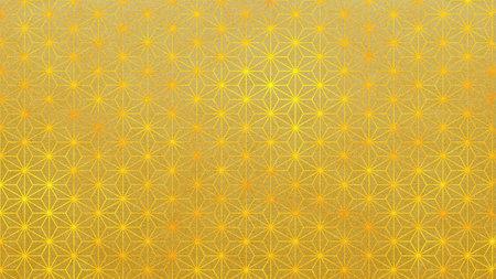Golden Background Material Hemp Leaf Traditional Gold Folding Screen Gold Folding Screen