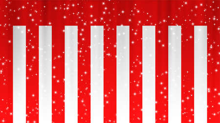Red and White Curtain Limelight Star Celebration Background Material 写真素材