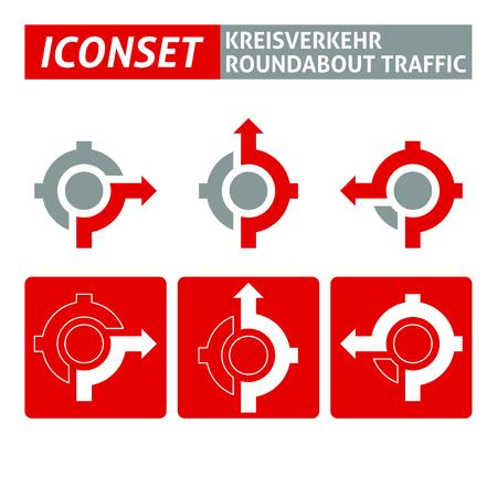 Icons Kreisverkehr Kreisverkehr Verkehr