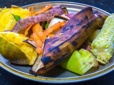 Fruit and vegetables scraps - Composting Stock Photo