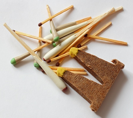 scattered different matchsticks for hunting