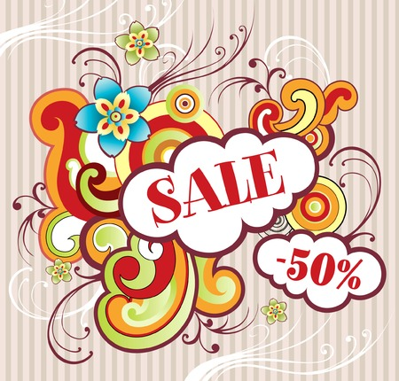 Abstract illustration. Sale Vector