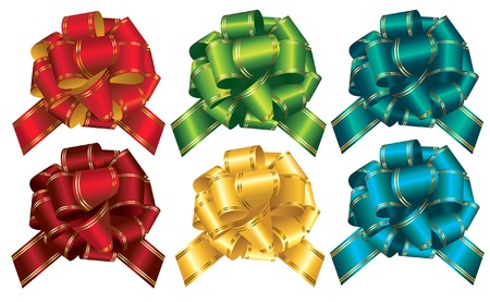 Collection of celebratory bows Vector