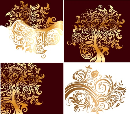 harmless: Beautiful ornaments with flowers and curls