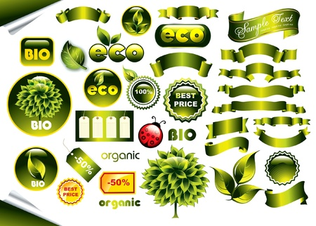 Vector set of eco icons Vector