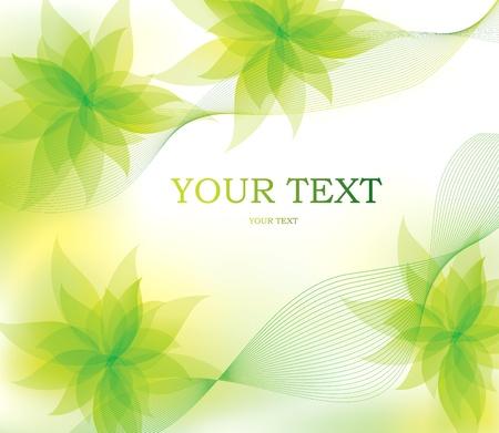 bage: Spring floral background Illustration
