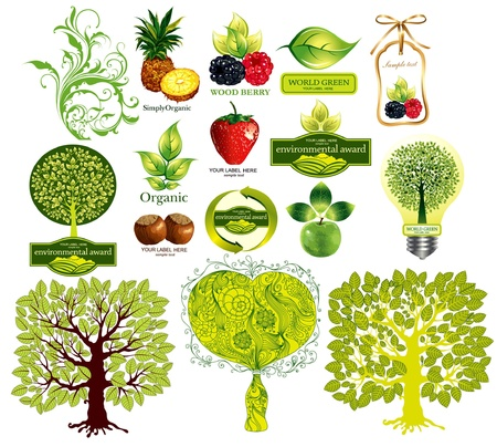 Vector set of eco icons  Stock Vector - 9655378