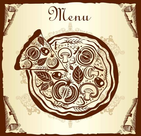 tavern: Design menu with pizza