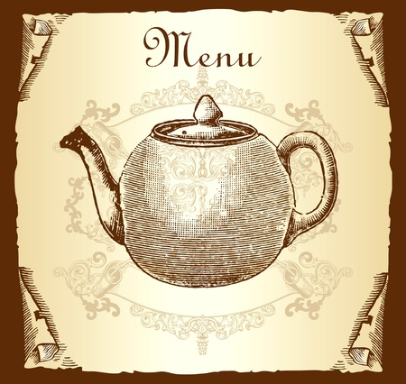 Retro design cover menu Vector
