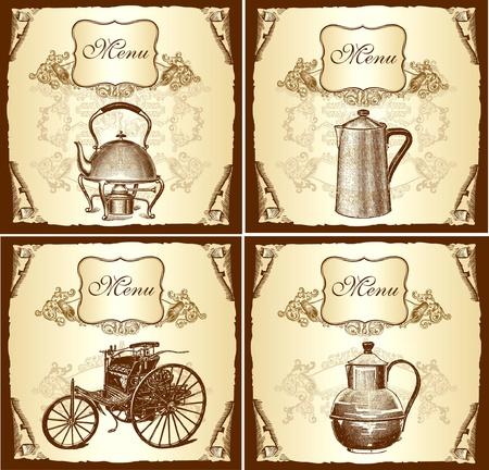tavern: Retro design of cover menu Illustration