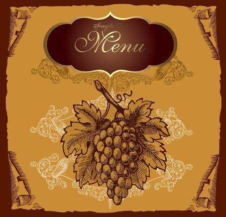 tavern: Retro design cover menu Illustration