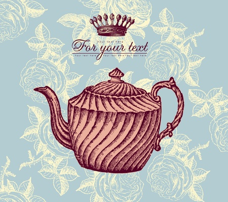 Retro design with teapot Vector