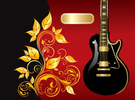 Illustration with guitar Stock Vector - 9775426