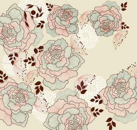 Background with flowers Illustration