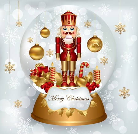 Christmas snowglobe with Nutcracker  Stock Vector - 9821550