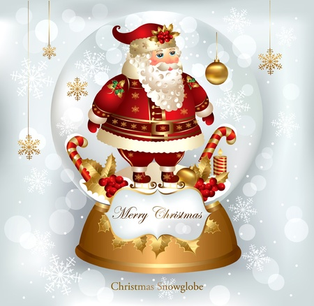 christmas snowglobe Vector