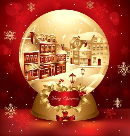 christmas snowglobe Stock Vector - 9821519