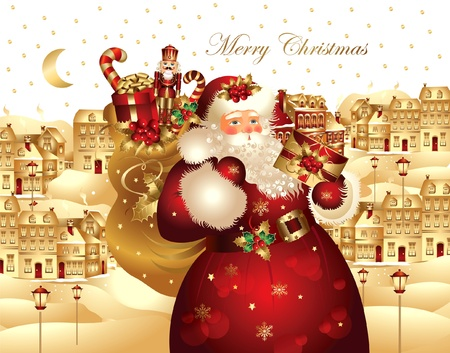 Christmas banner with Santa Claus