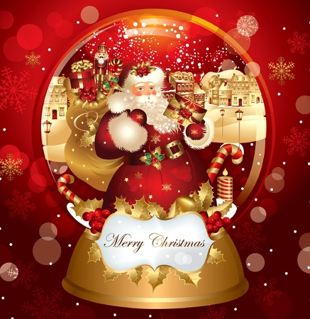 christmas snowglobe Stock Vector - 9821556