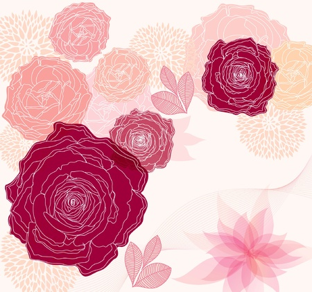 Beautiful floral background Stock Vector - 9821540