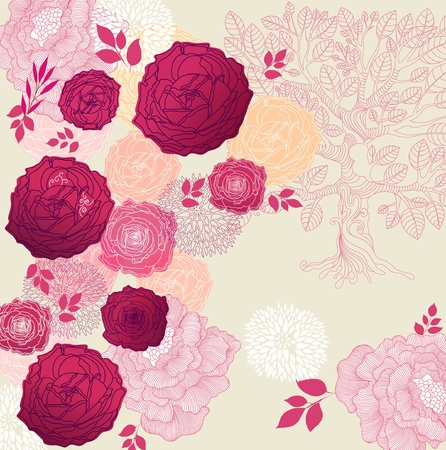 Beautiful floral background Stock Vector - 9821573