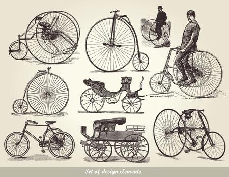 ensemble de vieux vélos
