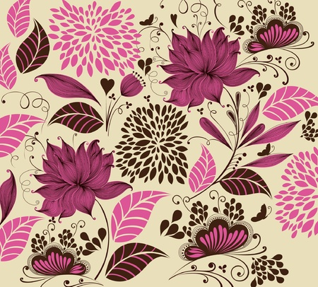 flower background. Fragment  Stock Vector - 9821418