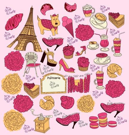symbols of Paris Vector