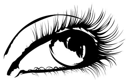 gitana: Ojo de la mujer para el dise�o de moda Vectores