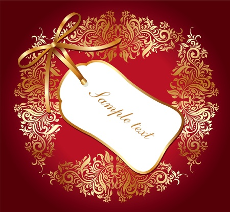 Holiday card Vector