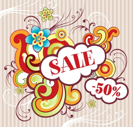 flyer on theme sale Vector