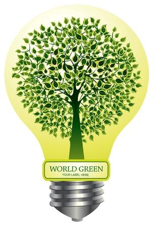 greenpeace: emblem green tree Illustration