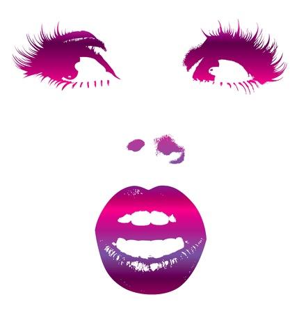 gitana: Cara de mujer para dise�o de moda Vectores