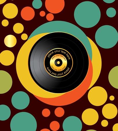 musikalische Illustration mit Platte Vektorgrafik