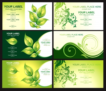 natural medicine: Business card with green foliage