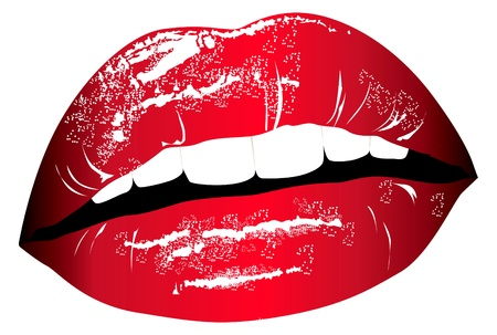 lipstick kiss: lips. Print for t-shirt