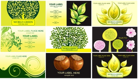 Visiting cards on theme nature Vector