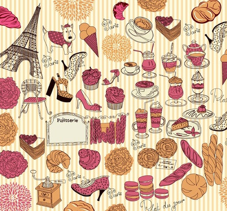 boulangerie: Collection symbols of Paris