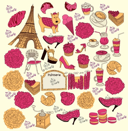 patisserie: Collection symbols of Paris